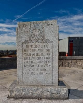 Breslin War Memorial Marker Returned to Belmar, NJ Original Location image. Click for full size.