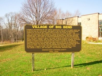 Village of Big Bend Marker Photo, Click for full size