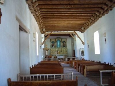 Interior - Socorro Mission La Purisima Photo, Click for full size