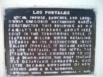 Los Portales Marker image. Click for full size.