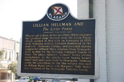 The Demopolis Opera House / Lillian Hellman And Marker (Side B) image. Click for full size.