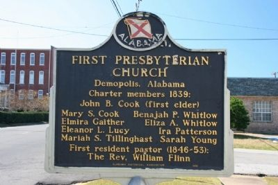 First Presbyterian Church Marker (Side A) image. Click for full size.