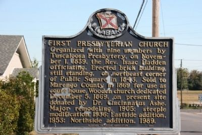 First Presbyterian Church Marker (Side B) image. Click for full size.