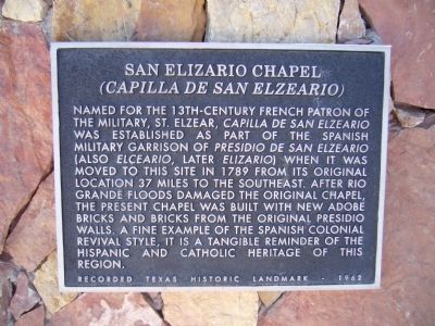 San Elizario Chapel Marker image. Click for full size.