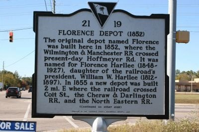 Florence Depot (1852) Marker image. Click for full size.