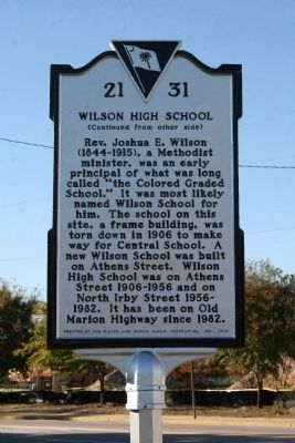 Wilson High School Marker image. Click for full size.