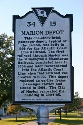 Marion Depot Marker image. Click for full size.