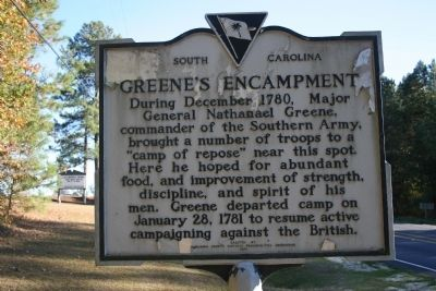 Greene's Encampment / Sherman's March Marker (front) image. Click for full size.