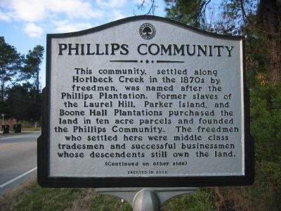 Phillips Community Marker - Side A image. Click for full size.