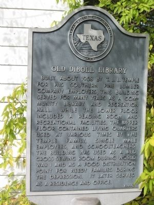 Old Diboll Library Marker image. Click for full size.