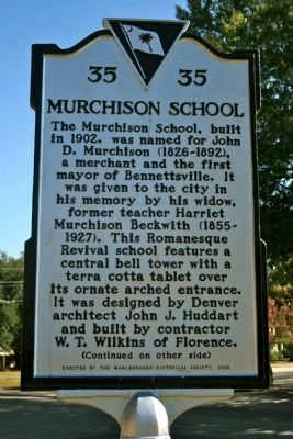 Murchison School Marker - Side A Photo, Click for full size