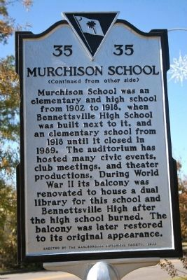 Murchison School Marker - Side B Photo, Click for full size