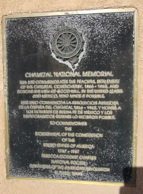 Chamizal National Memorial Marker image. Click for full size.