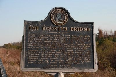 The Rooster Bridge Marker (Side A) Photo, Click for full size