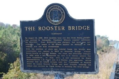 The Rooster Bridge Marker (Side B) Photo, Click for full size