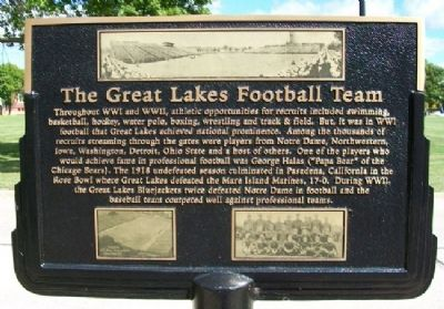The Great Lakes Football Team Marker image. Click for full size.