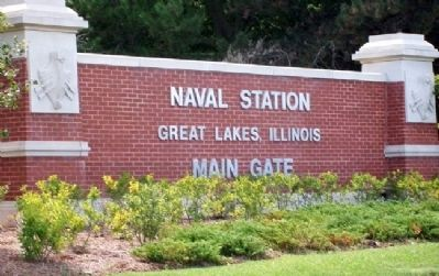 Entrance Sign for Naval Station Great Lakes image. Click for full size.