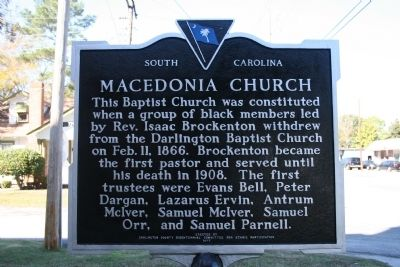Macedonia Church Marker (reverse) image. Click for full size.