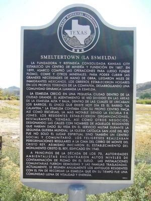 Smeltertown Marker - (Spanish) image. Click for full size.