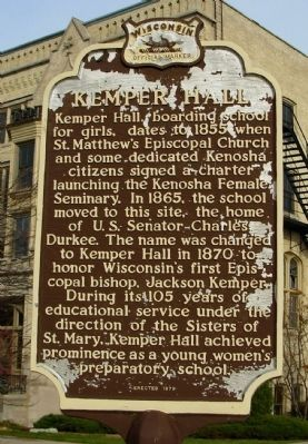 Kemper Hall Marker image. Click for full size.