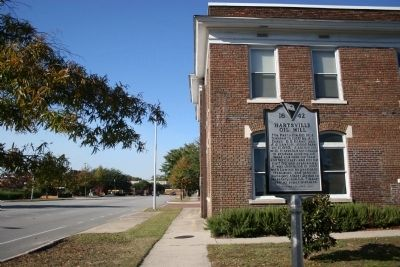 Hartsville Oil Mill Office and Marker image. Click for full size.