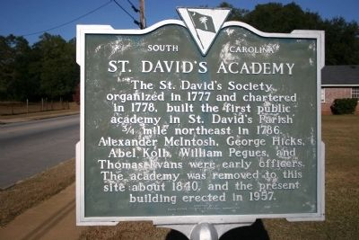 St. David's Academy Marker image. Click for full size.
