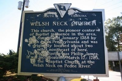 Welsh Neck Church Marker (Side A) Photo, Click for full size