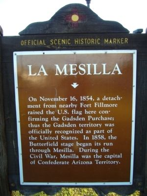 La Mesilla Marker Photo, Click for full size