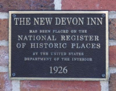 The New Devon Inn Marker image. Click for full size.