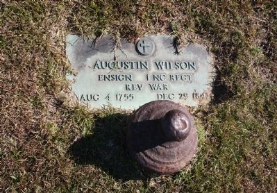 Augustin Wilson's Grave image. Click for full size.