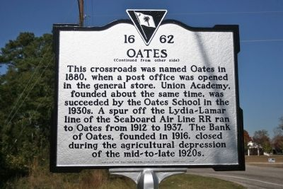Oates Marker (reverse) image. Click for full size.