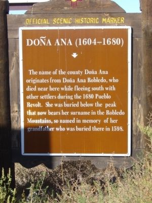 Doña Ana (1604–1680) Marker image. Click for full size.