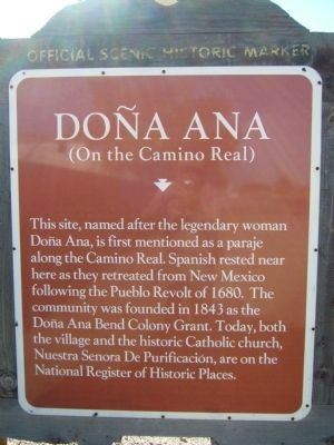 Doña Ana (On the Camino Real) Marker image. Click for full size.