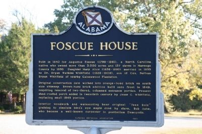 Foscue House Marker image. Click for full size.