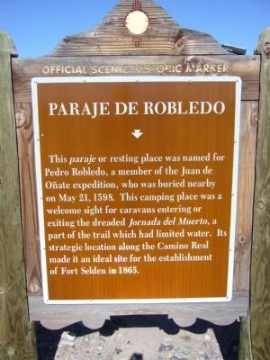 Paraje de Robledo Marker image. Click for full size.