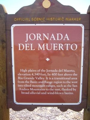Jornada del Muerto Marker Photo, Click for full size