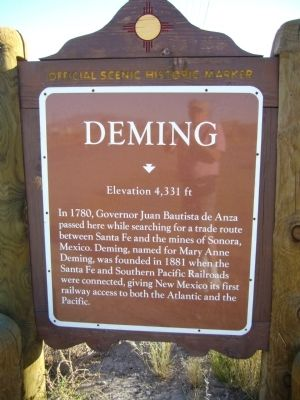 Deming Marker image. Click for full size.