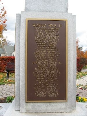 Port Chester World War II Memorial image. Click for full size.