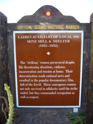 <i>back of</i> Ladies Auxiliary of Local 890 Marker Photo, Click for full size