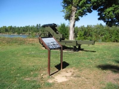 Marker with Reproduction Carronade image. Click for full size.