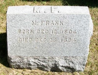 Colonel Michael Frank Grave Marker image. Click for full size.