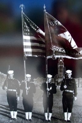 Color Guard Photo on Between the Wars Marker image. Click for full size.