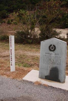 Bandera Pass Marker Photo, Click for full size