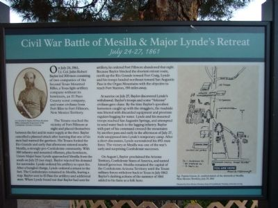Civil War Battle of Mesilla & Major Lynde's Retreat Marker Photo, Click for full size
