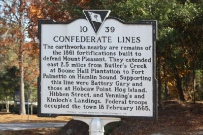 Confederate Lines Marker image. Click for full size.