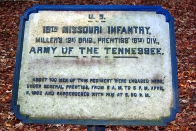 18th Missouri Infantry Tablet image. Click for full size.