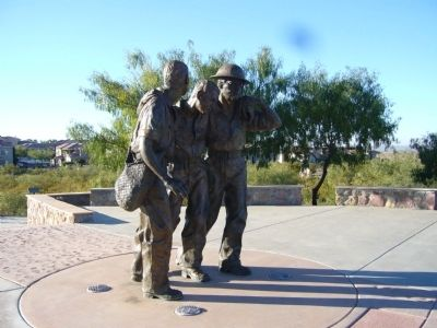 Sculpture at Veteran's Park image. Click for full size.
