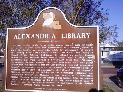 Alexandria Library Marker image. Click for full size.