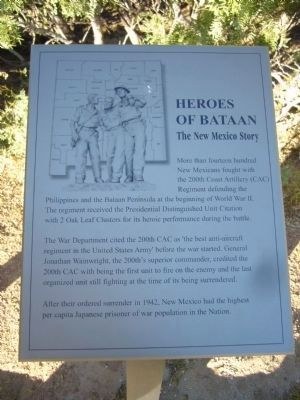 Heroes of Bataan Marker image. Click for full size.
