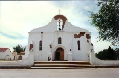 San Elizario Mission image. Click for full size.